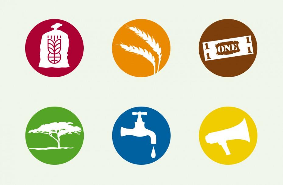 Sektoren-Icons Welthungerhilfe