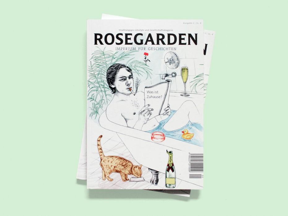 """Rosegarden Magazin """"Was ist Zuhause?"""" Titel"""