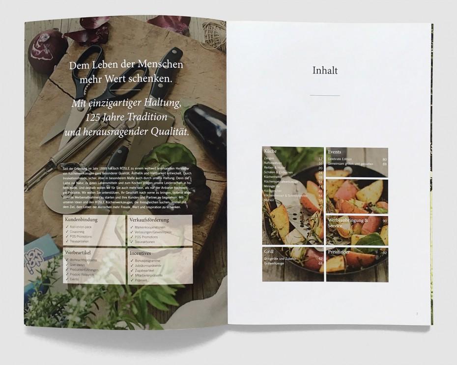 RÖSLE Katalog Inhalt