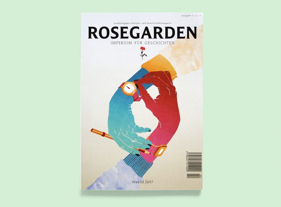 "Rosegarden Magazin ""Was ist Zeit?"" Illustration: Stephanie F. Scholz"