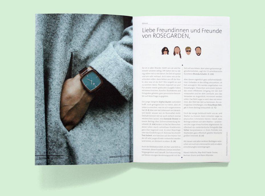 """Rosegarden Magazin """"Was ist Zeit?"""""""