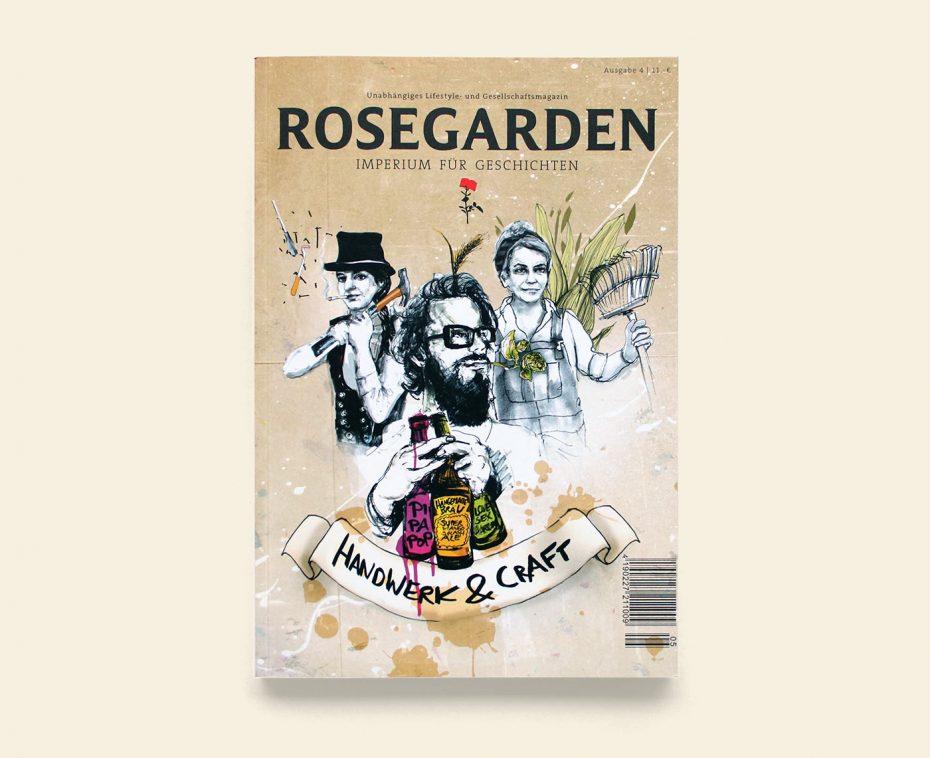 "Rosegarden Magazin ""Handwerk & Craft"" Illustration: Anna Franke"