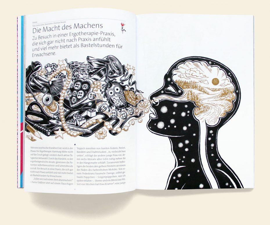 "Rosegarden Magazin ""Handwerk & Craft"" Illustration: Christian Heerde"