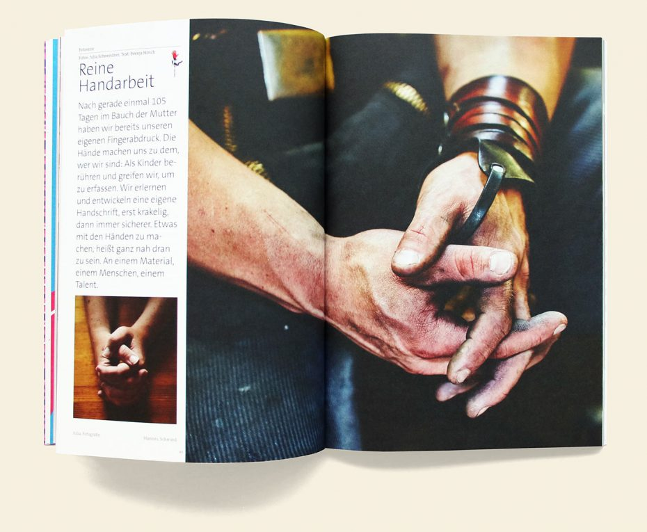 """Rosegarden Magazin """"Handwerk & Craft"""" Fotos: Julia Schwendner"""